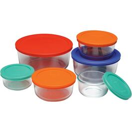 12 Piece Round Storage Dish Set, with Covers thumb