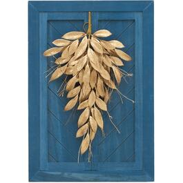 "26"" Wood Frame Wall Decor, with Gold Leaf Swag thumb"