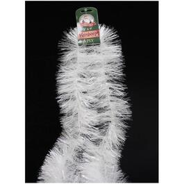 9' Pearl White Tinsel Garland thumb