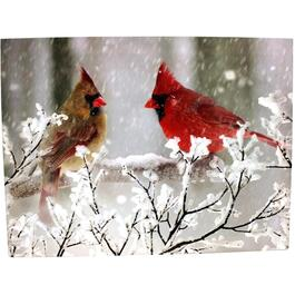 "16"" x 11"" Canvas Cardinal Wall Art, with LED Lights thumb"