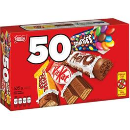 50 Pack Assorted Mini Chocolate Bars thumb