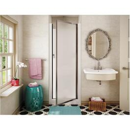 "30"" White Fibreglass Shower Cabinet, with Glass Chrome Door thumb"