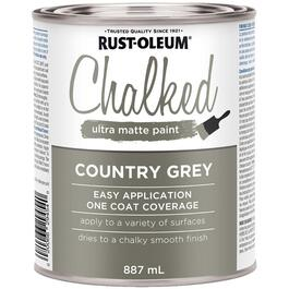 887mL Chalked Ultra Matte Country Grey Latex Paint thumb