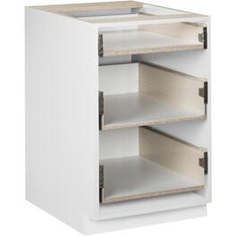 "24"" 3-Drawer White Knockdown Base Cabinet thumb"