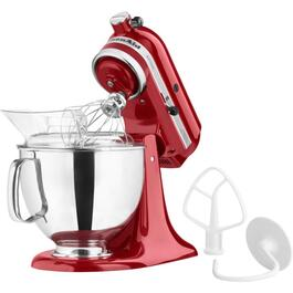 325 Watt 10 Speed Red Stand Mixer, with 5 Quart Bowl thumb
