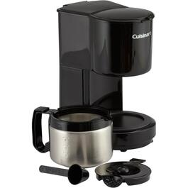 4 Cup Black/Stainless Steel Coffee Maker, with Thermal Carafe thumb