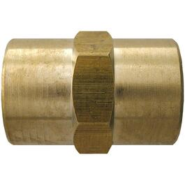 "3/8"" Female Pipe Thread Brass Coupling thumb"