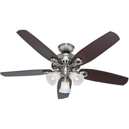 "Hinnman 52"" 5 Blade Brushed Nickel Ceiling Fan with Lights thumb"