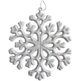 Plastic White Snowflake Ornament thumb