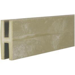 8' Khaki Vinyl Lattice H-Moulding thumb
