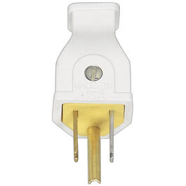 3 Wire 15 Amp 125V White Electrical Plug thumb