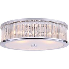 Ellis 3 Light Chrome Flushmount Light Fixture thumb