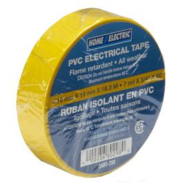 "7mil x 3/4"" x 60' CSA Approved PVC Yellow Electrical Tape thumb"