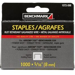 "1000 Pack 5/16"" Staples, for T50 Stapler thumb"