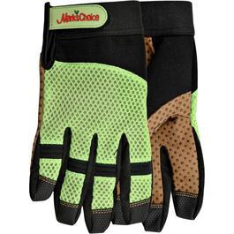 Ladies Large Mesh Back Garden Gloves, Assorted Colours thumb