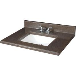 "31"" x 19"" Espresso Two Tone Cultured Granite Vanity Top thumb"