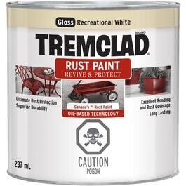 237mL Gloss Recreational Vehicle White Alkyd Rust Paint thumb
