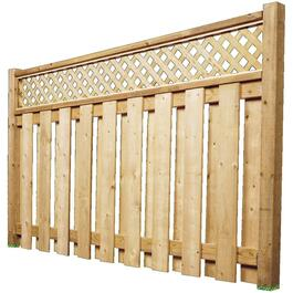 6' Pressure Treated Lattice Fence Package thumb