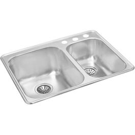 "27 1/2"" x 20 7/8"" x 8"" Stainless Steel Drop In Kitchen Sink thumb"