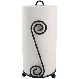 Scroll Black Paper Towel Holder thumb