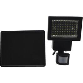 Black Solar Powered LED Motion Detector Security Light thumb