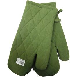 "7"" x 12"" Moss Woven Classic Oven Mitts thumb"