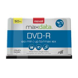 50 Pack 4.7GB DVD-R Spindle Disks thumb