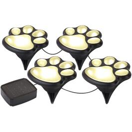 4 Pack Animal Paw Solar Garden Statues thumb
