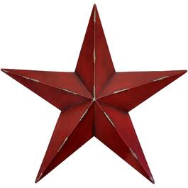 "24.5"" Red Metal Wall Hanging Star thumb"