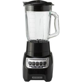 700 Watt 4 Speed Black PowerCrush Blender, with Glass Jar thumb