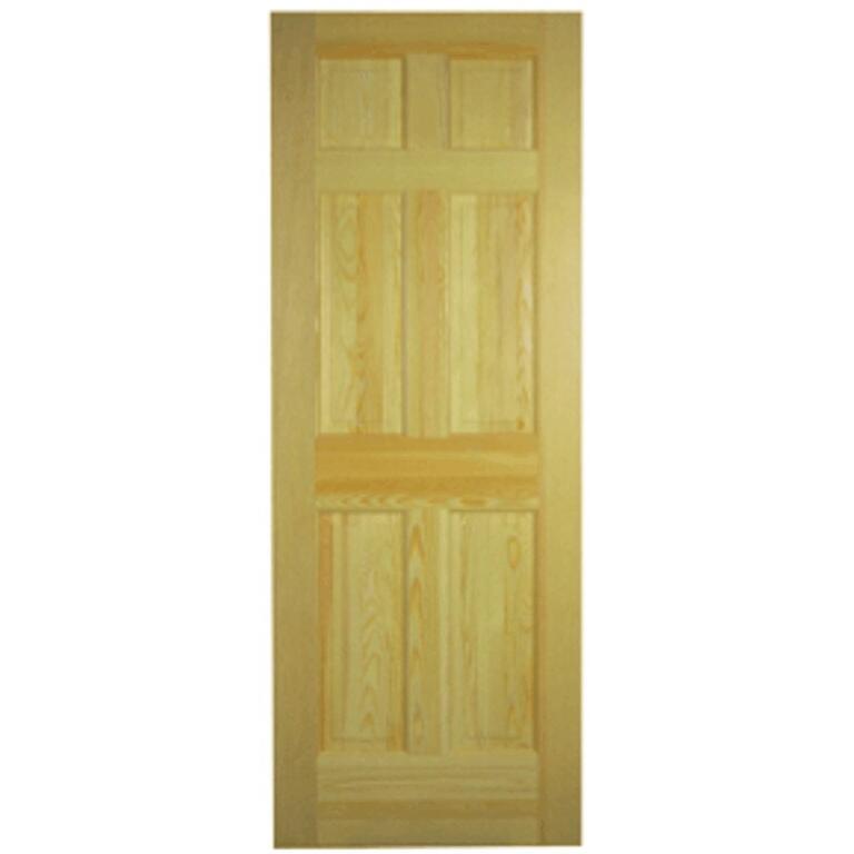 34 X 80 6 Panel Clear Pine Interior Door Home Hardware