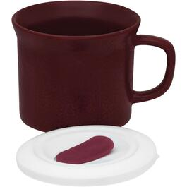 20oz Cherry Stoneware Soup Mug, with Cover thumb