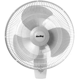 "3 Speed/3 Blade 16"" White Oscillating Wall Mount Fan thumb"