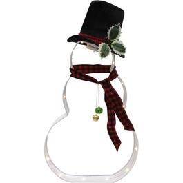 "23"" Cookie Cutter Snowman Lit Frame, with 16 Lights thumb"