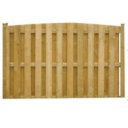 6' Spruce Sanded One Side Convex Top Board On Board Fence Package thumb