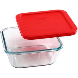 4 Cup Square Storage Dish, with Cover thumb
