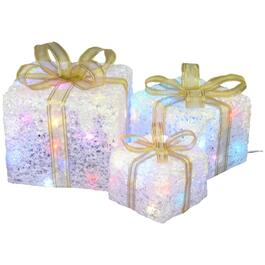 3 Piece Twinkle Gift Boxes Lit Frames thumb