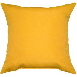 "16"" Square Solid Yellow Throw Pillow thumb"