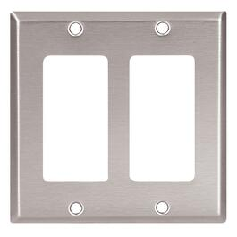 Stainless Steel Decora 2 Device Switch Plate thumb
