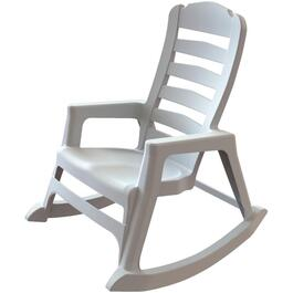 White Big Easy Resin Stacking Rocking Chair thumb