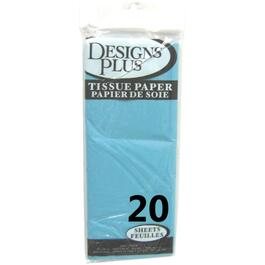 "20 Pack 20"" x 20"" Light Blue Tissue Paper thumb"