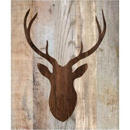 "21"" Deer Head Wood Wall Plaque thumb"