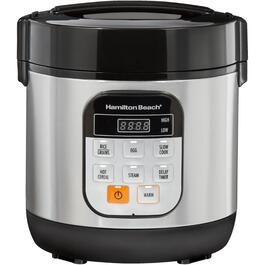 1.5 Quart Stainless Steel/Black Compact Multi-Cooker thumb