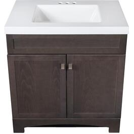 "30"" x 18"" Davison 2 Door Brown Vanity thumb"