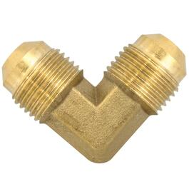 "3/8"" x 3/8"" Brass 90 Degree Flare Tube to Tube Elbow thumb"