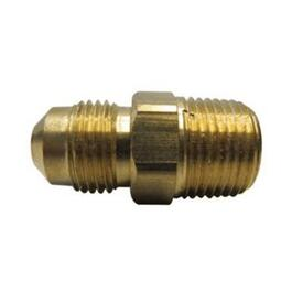 "3/8"" Flare x 1/2"" Male Pipe Thread Brass Connector thumb"