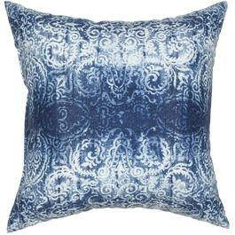 "16"" Square Batik Blue Throw Pillow thumb"