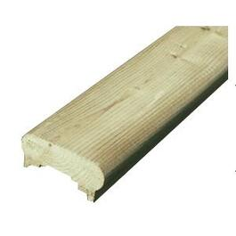"1-3/8"" x 3-1/8"" x 6' Pressure Treated Triple Slot Cap Rail thumb"