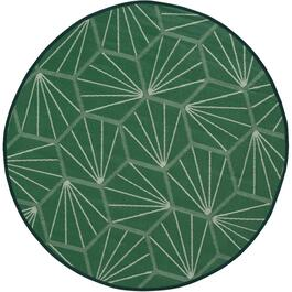 6.7' Round PVC Patio Rug, Assorted Colours thumb