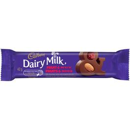 42g Dairy Milk Fruit and Nut Chocolate Bar thumb